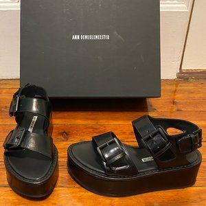 New ANN DEMEULEMEESTER Buckle Platform Sandals